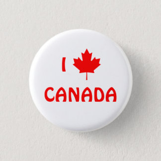 Badges I bouton du Canada de feuille d'érable