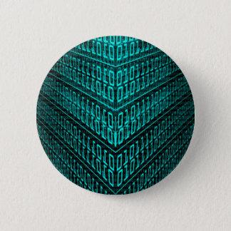 Badges IL code binaire d'ordinateur de pointe de