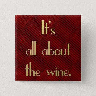 Badges Il est tout au sujet du vin