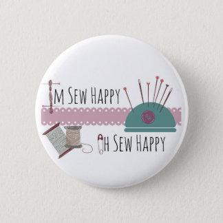 Badges Im cousez heureux oh cousent le mauve heureux