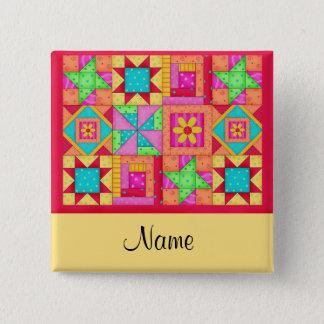 Badges Insigne de bouton de nom de blocs d'édredon