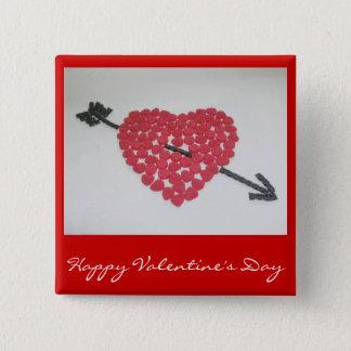 Badges Insigne de heureuse Sainte-Valentin de coeur de