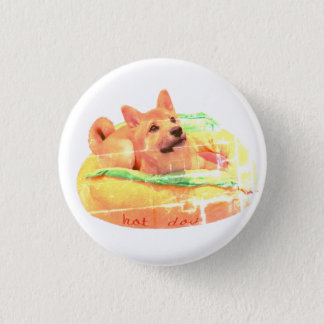 Badges Insigne de Shiba de hot-dog