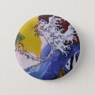 Badges Insigne d'une peinture inspirée par Hokusai