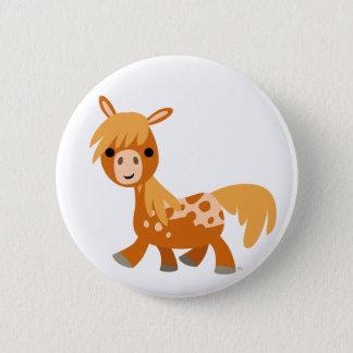 Badges Insigne mignon de bouton de poney d'Appaloosa de
