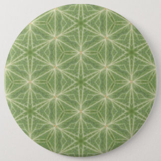 Badges Insigne vert de dessin géométrique de feuille de