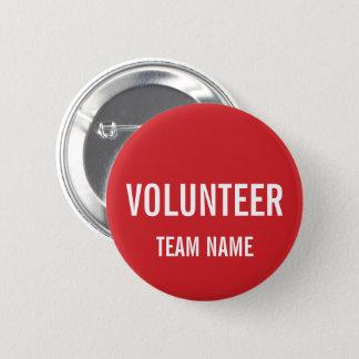 Badges Insigne volontaire de rouge avec le nom fait sur