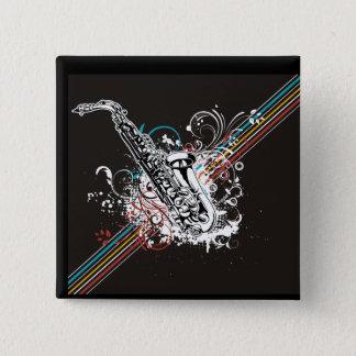 Badges Instrument de fanfare de saxophone de saxo