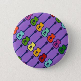 Badges instruments de musique colorés