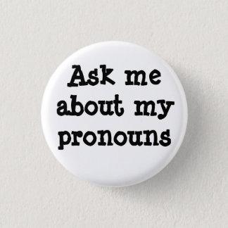Badges Interrogez-moi au sujet de mon bouton de pronoms