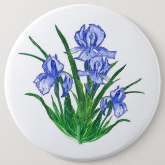Badges Iris bleu