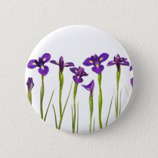 Badges Iris pourpres - modèle customisé par fleur d'iris