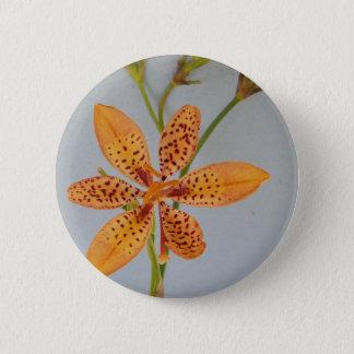 Badges Iris repéré par orange appelé un lis de Blackberry