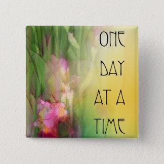 Badges Iris roses et rouges d'un jour à la fois