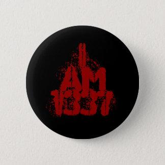 Badges J'ai 1337 ans. Texte rouge-foncé. Gamer. de Leet