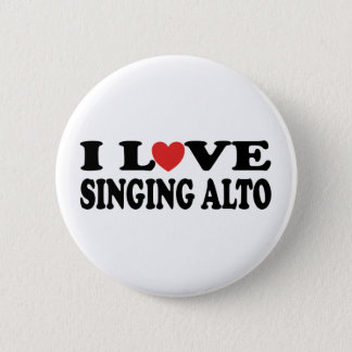 Badges J'aime chanter le cadeau de musique d'alto