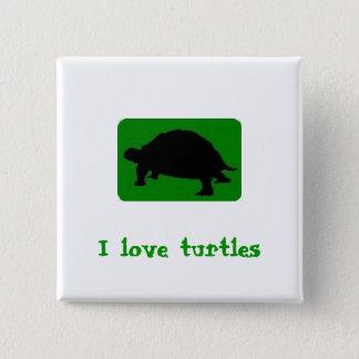 Badges J'aime des tortues