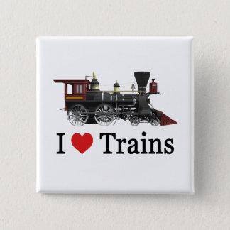 Badges J'aime des trains