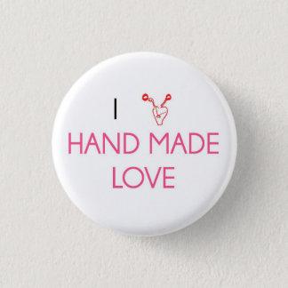Badges J'aime l'amour fabriqué à la main