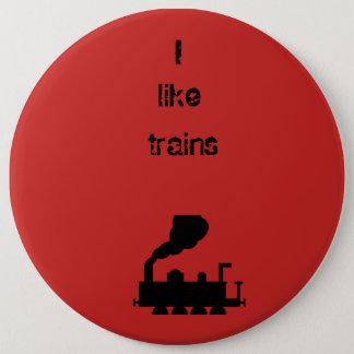 Badges J'aime le bouton de trains