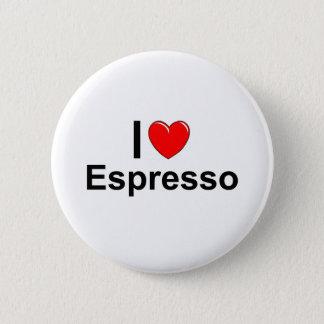 Badges J'aime le café express de coeur
