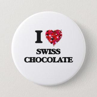 Badges J'aime le chocolat suisse