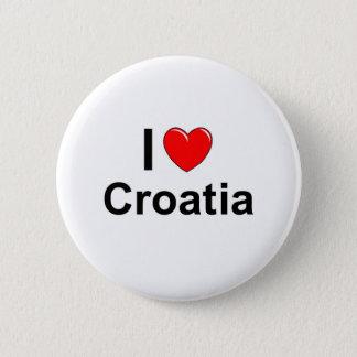 Badges J'aime le coeur Croatie