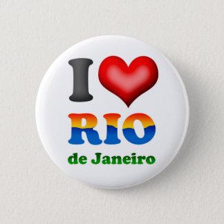 Badges J'aime le Rio de Janeiro, Brésil la ville