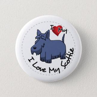 Badges J'aime mon chien de Scottie