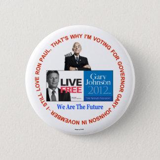 Badges J'aime toujours le bouton de Ron Paul Gary Johnson