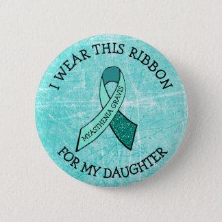 Badges Je porte ce ruban pour mon bouton de MG de fille