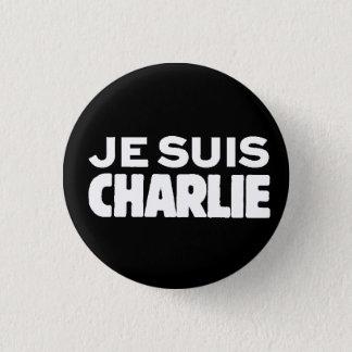 Badges Je Suis Charlie-Je AM Charlie-Blanc sur le noir