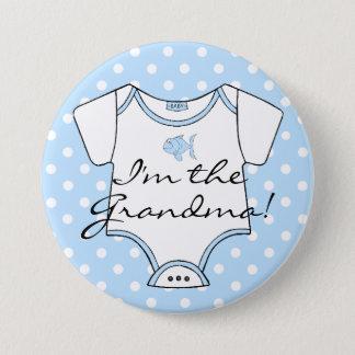 Badges Je suis la grand-maman bleue et blanc avec les