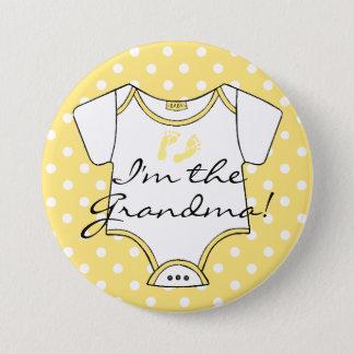 Badges Je suis le bébé jaune et blanc de grand-maman de