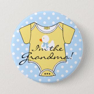 Badges Je suis le pois et le jaune bleus de grand-maman