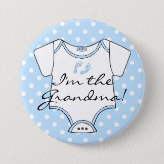 Badges Je suis les empreintes de pas de bébé bleu de