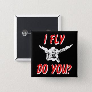 Badges Je vole, et vous ? (blanc)