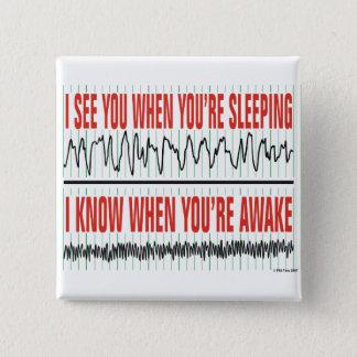Badges Je vous vois quand vous dormez… Bouton