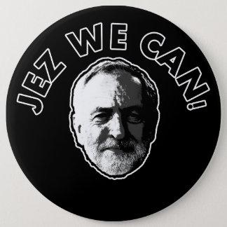 """Badges Jeremy Corbyn """"Jez nous pouvons"""" noircir l'insigne"""