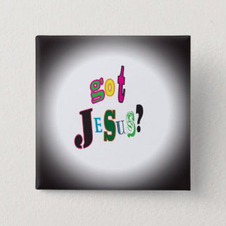 Badges Jésus obtenu abrégé sur noir ovale