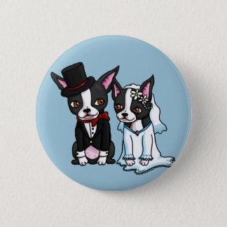 Badges Jeunes mariés de Boston Terrier