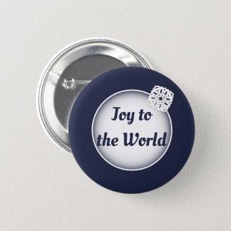 Badges Joie de neige au bouton du monde |