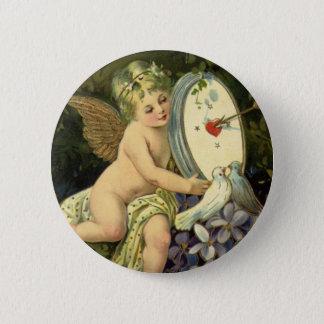 Badges Jour de Valentines victorien vintage, inséparables