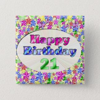 Badges Joyeux anniversaire 21