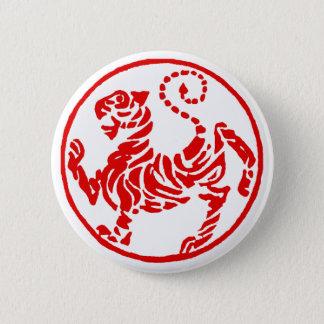 Badges Karaté rouge de Japonais de tigre de Shotokan