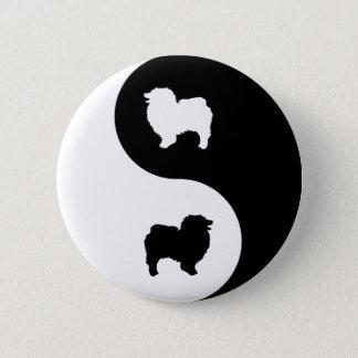 Badges Keeshond Yin Yang