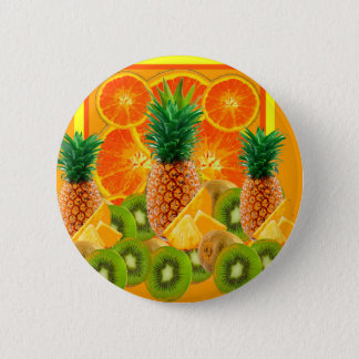 Badges KIWI HAWAÏEN de TRANCHES d'ANANAS tropical et