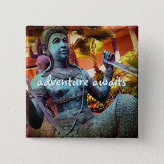"""Badges La """"aventure attend"""" la photo de statue de"""