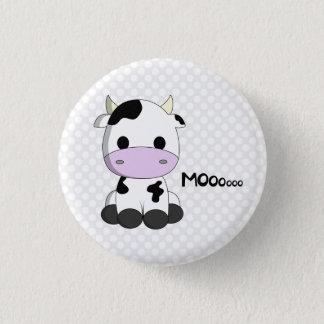 Badges La bande dessinée mignonne de vache à kawaii sur