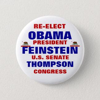 Badges La Californie pour Obama Feinstein Thompson